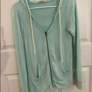 Tops - Teal zippered jacket